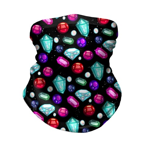 Gemstones Pattern Neck Gaiter