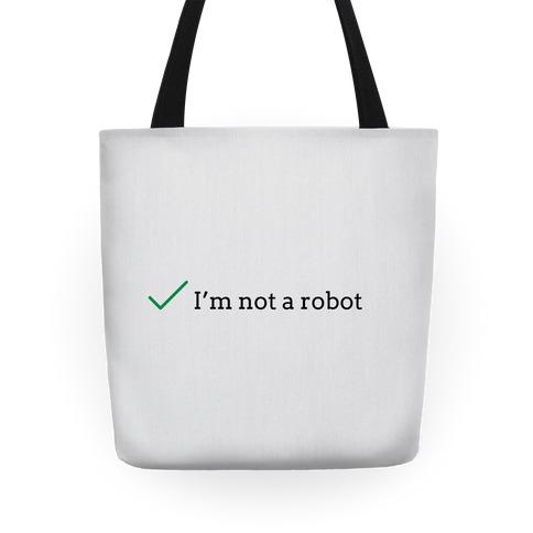 I'm Not a Robot reCaptcha Tote