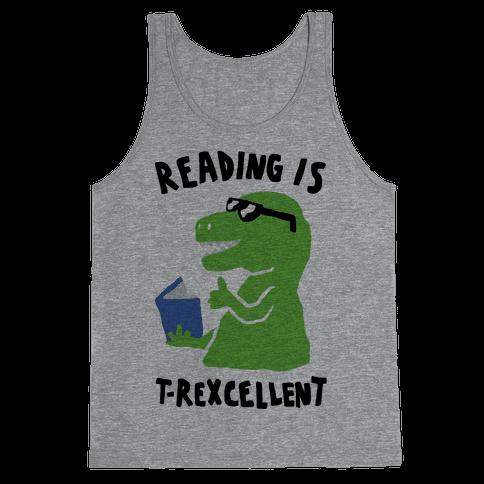 Reading Is T-Rexcellent Dinosaur Tank Top