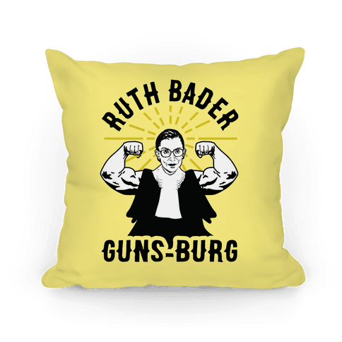 Ruth Bader Guns-Burg Pillow