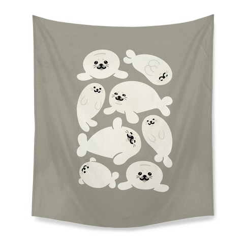 Baby Seals Pattern Study Tapestry