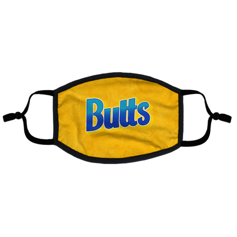 Butts Candy Logo Flat Face Mask