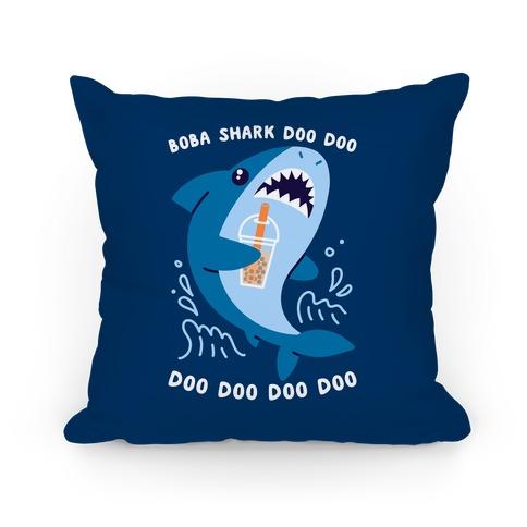 Boba Shark Pillow