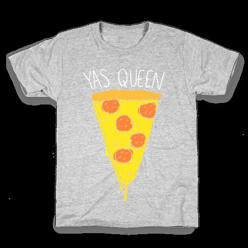 Yas Queen Pizza Kids T-Shirt