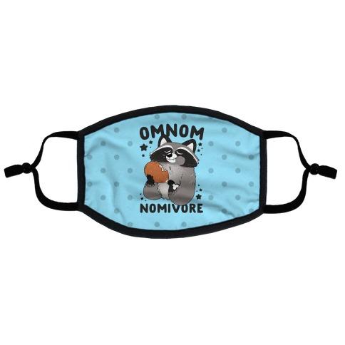 Omnomnomivore Flat Face Mask