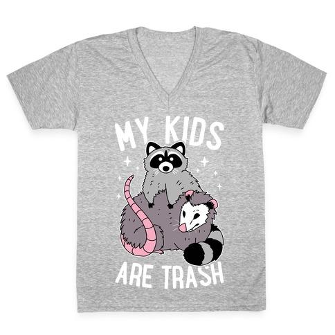 My Kids Are Trash V-Neck Tee Shirt