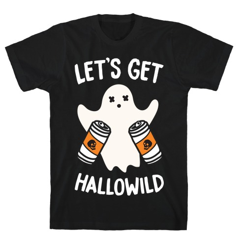 Let's Get Hallowild (White) Mens T-Shirt