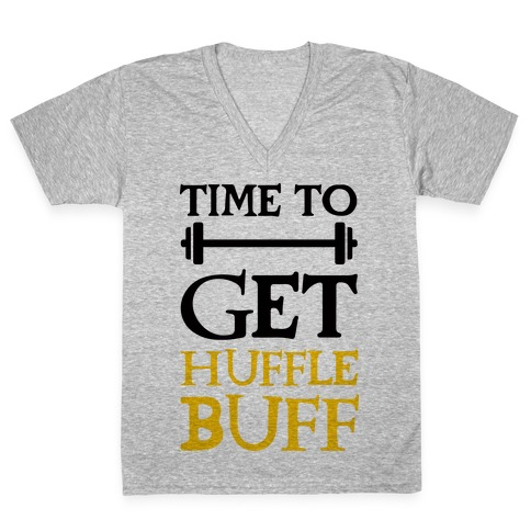 Time To Get Huffle Buff V-Neck Tee Shirt