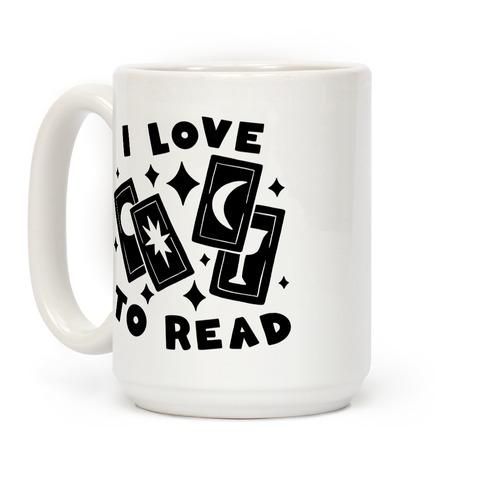 I Love To Read Tarot Coffee Mug