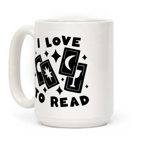 I Love To Read Tarot Coffee Mug