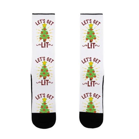 Let's Get Lit Sock