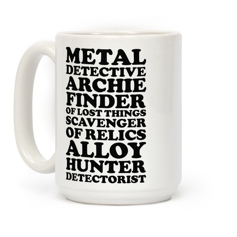 Metal Detective Archie Finder Of Lost Things Coffee Mug