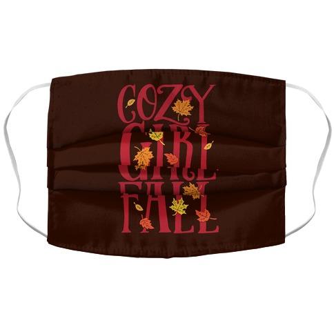 Cozy Girl Fall Accordion Face Mask