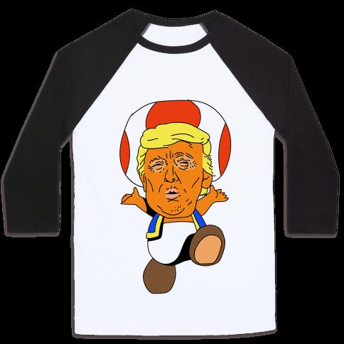Donald Trump Toad Mushroom Baseball Tee
