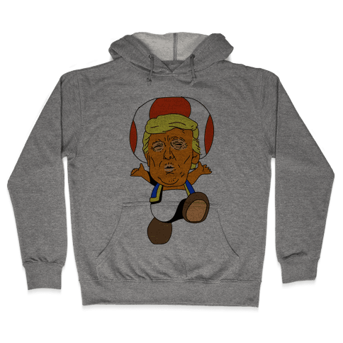 Donald Trump Toad Mushroom Hooded Sweatshirt