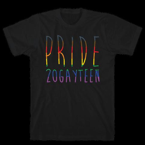 Pride 20gayteen White Print Mens T-Shirt