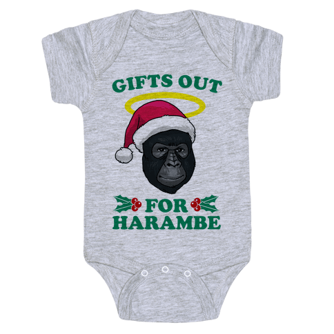 Gifts Out for Harambe Baby Onesy