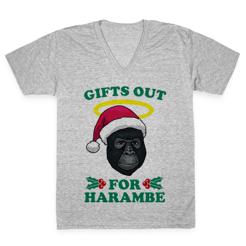 Gifts Out for Harambe V-Neck Tee Shirt
