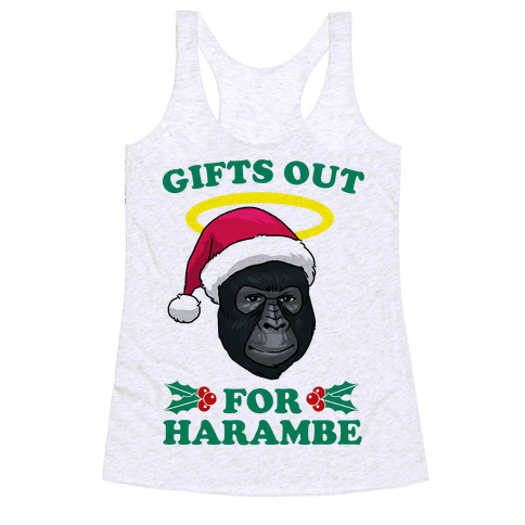 Gifts Out for Harambe Racerback Tank Top