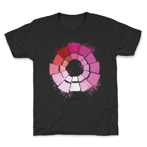 Lesbian Pride Color Wheel Kids T-Shirt