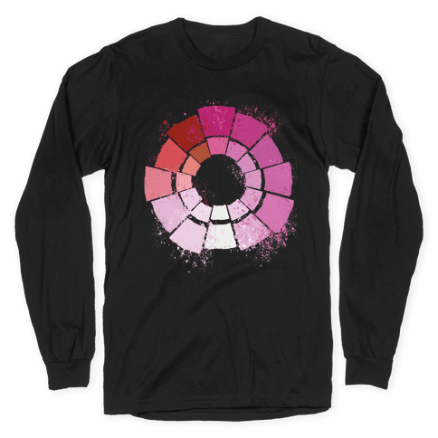 Lesbian Pride Color Wheel Long Sleeve T-Shirt