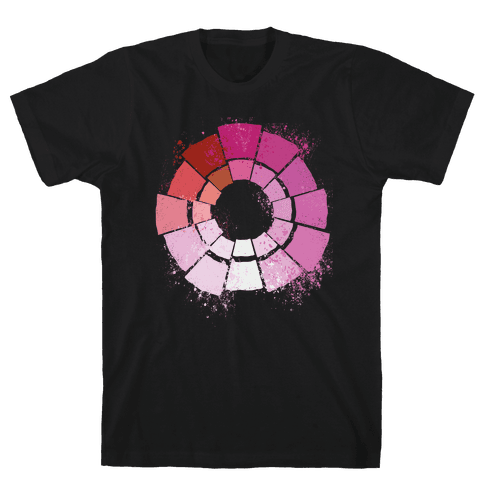 Lesbian Pride Color Wheel Mens/Unisex T-Shirt