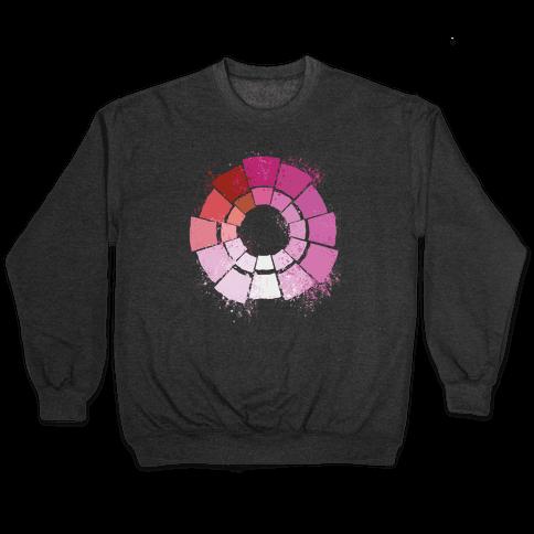 Lesbian Pride Color Wheel Pullover