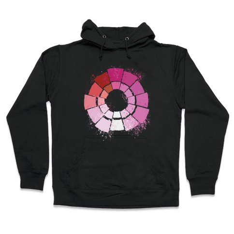 Lesbian Pride Color Wheel Hooded Sweatshirt