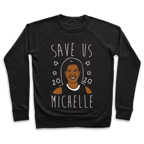 Save Us Michelle 2020 White Print Pullover