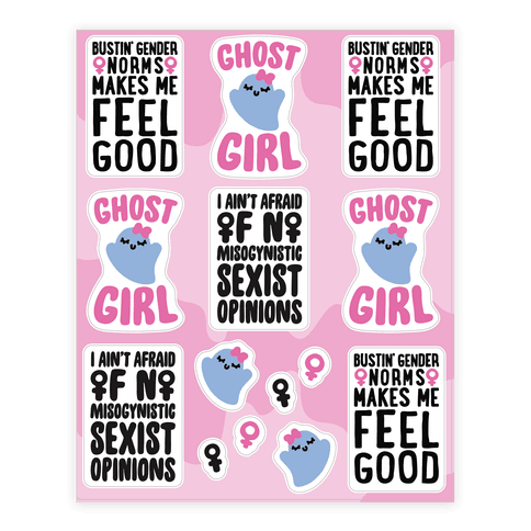 Ghost Girl Sticker Sheet Sticker/Decal Sheet