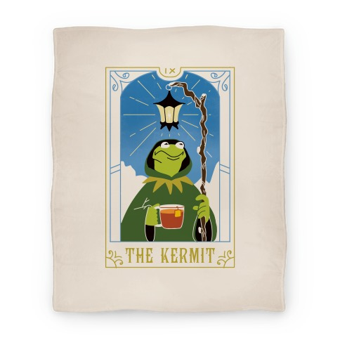 The Kermit Tarot Card Blanket