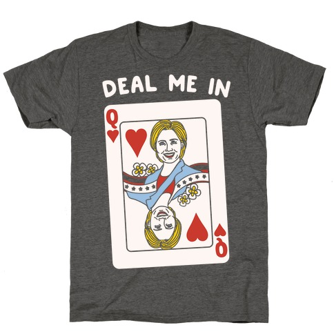 Deal Me In White Print T-Shirt