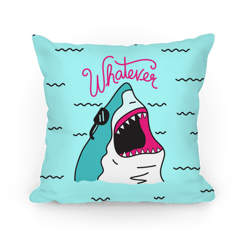 Whatever Shark Pillow