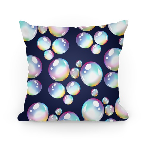 Watercolor Bubble Pattern Pillow