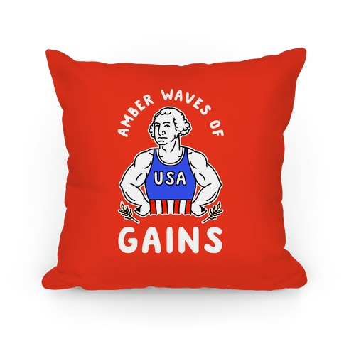 Amber Waves Of Gains Pillow