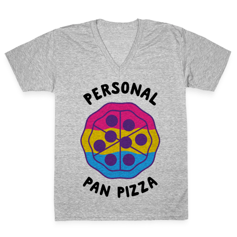 Personal Pan Pizza V-Neck Tee Shirt