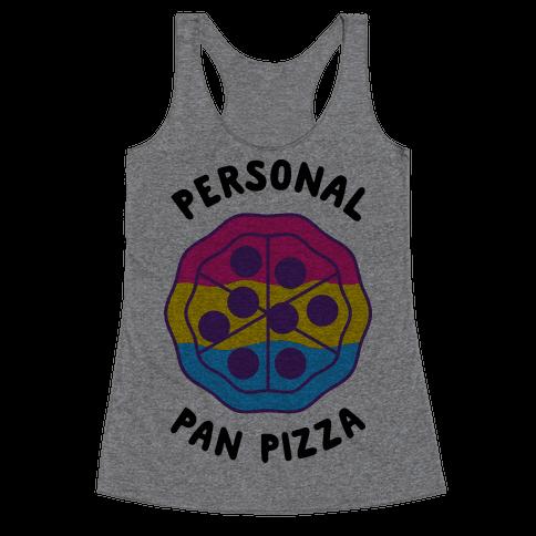 Personal Pan Pizza Racerback Tank Top