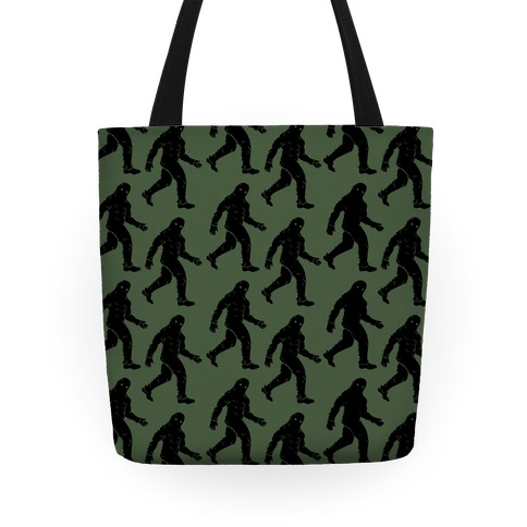 Big Foot Pattern Green Tote