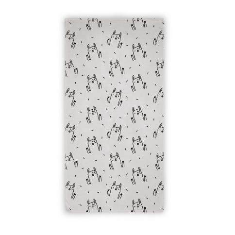 Sassy Llama Pattern Beach Towel