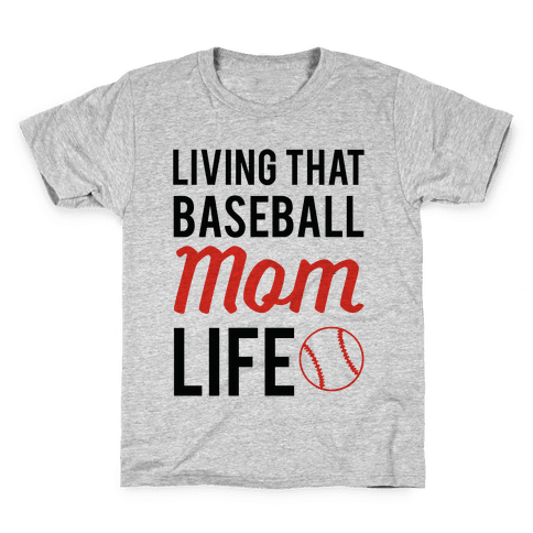 Living That Baseball Mom Life Kids T-Shirt