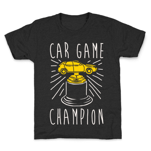 Car Game Champion White Print Kids T-Shirt