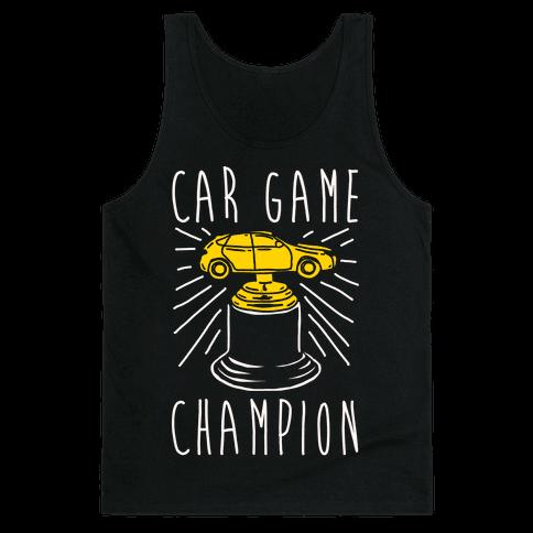Car Game Champion White Print Tank Top