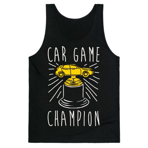 Car Game Champion White Print Tank Top