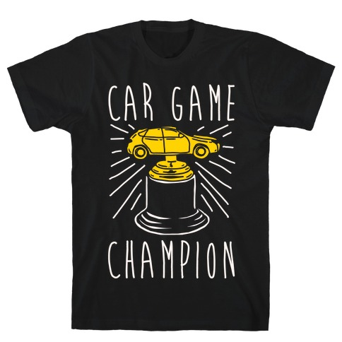 Car Game Champion White Print T-Shirt