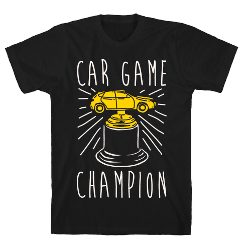 Car Game Champion White Print Mens T-Shirt