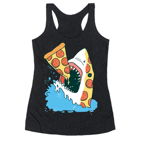 Pizza Shark Racerback Tank Top