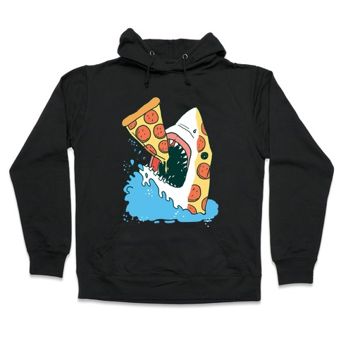 Pizza Shark Hooded Sweatshirt