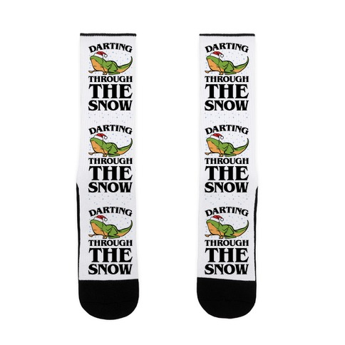 Darting Through The Snow Parody Sock