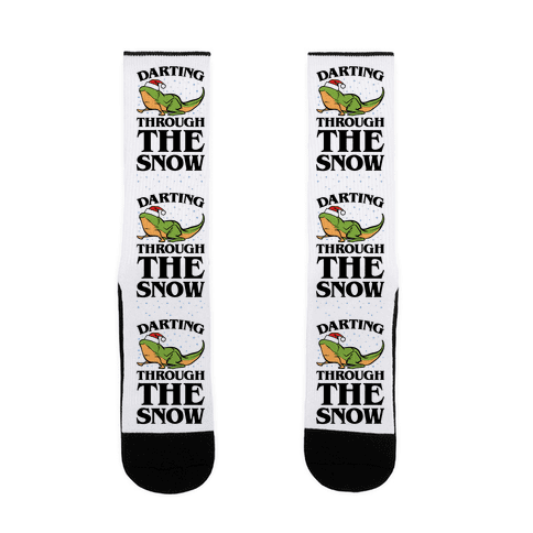 Darting Through The Snow Parody Sock