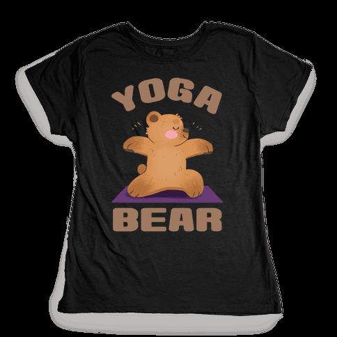 Yoga Bear Womens T-Shirt